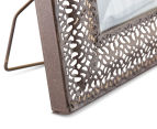 Antique Punched Metal 19x19cm Photo Frame - Brown 6