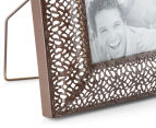 Antique Punched Metal 22x26cm Photo Frame - Brown 6
