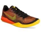 Nike Men's KB Mentality II Basketball Shoe - Black/Tour Yellow/Total Crimson 2