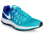 Nike Women's Air Zoom Pegasus 33 Shoe - Gamma Blue/White/Concord/Black 2