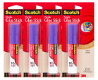 4 x Scotch Purple Glue Stick 8g 1