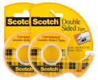 2 x Scotch Permanent Double-Sided Tape Dispenser 1
