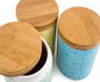 Cooper & Co. 13cm Ceramic Canister 3-Pack - Blue/Green/Yellow 6