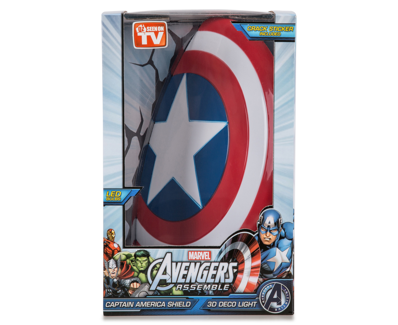 Marvel 3d wall lights asda trweb for catchoftheday 3d marvel captain america shield wall light redwhiteblue aloadofball Image collections