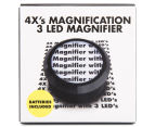 4Xs Magnifier w/ 3 LEDs & Batteries 1