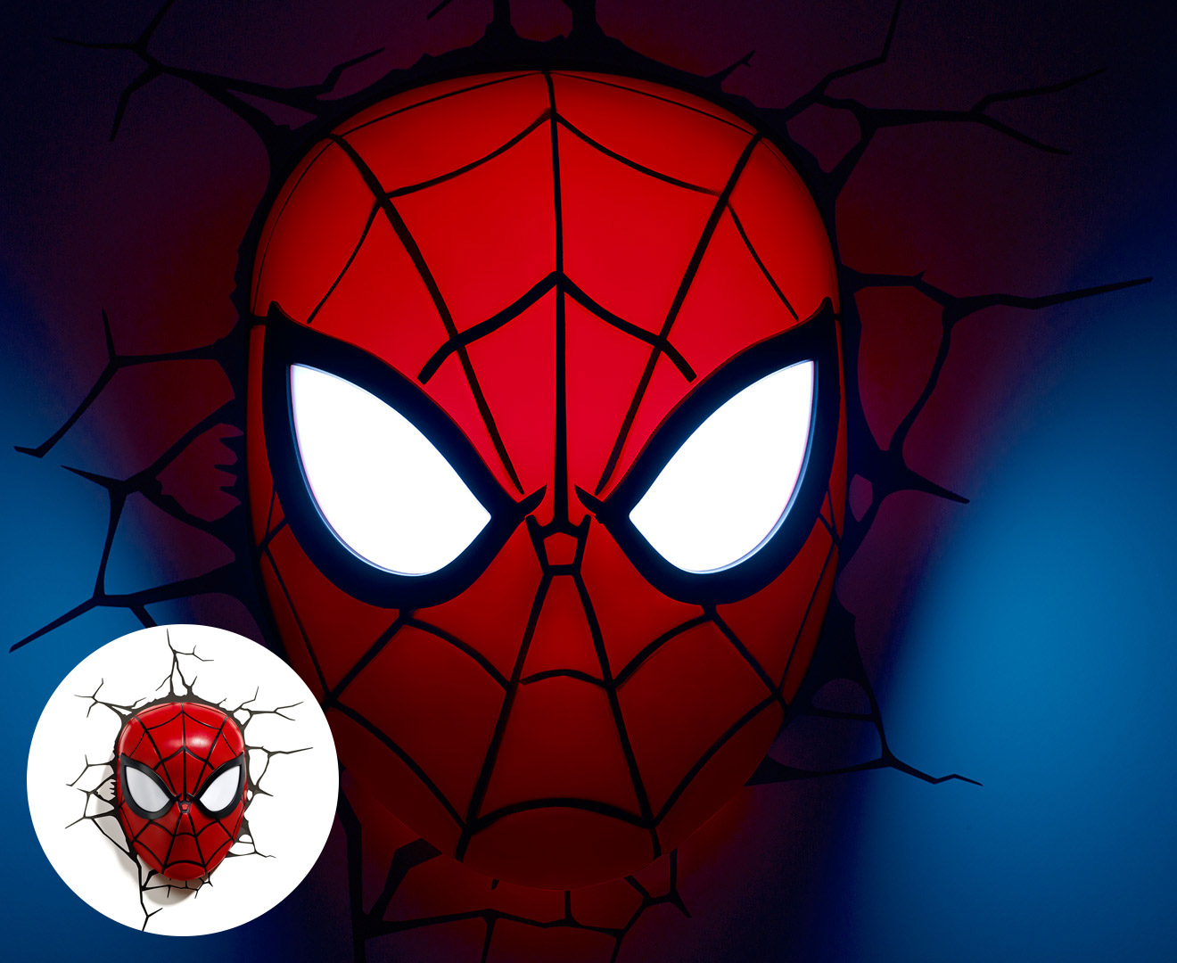 Marvel Wall Lights Spiderman : 3D Marvel Spiderman Mask Wall Light - Red eBay