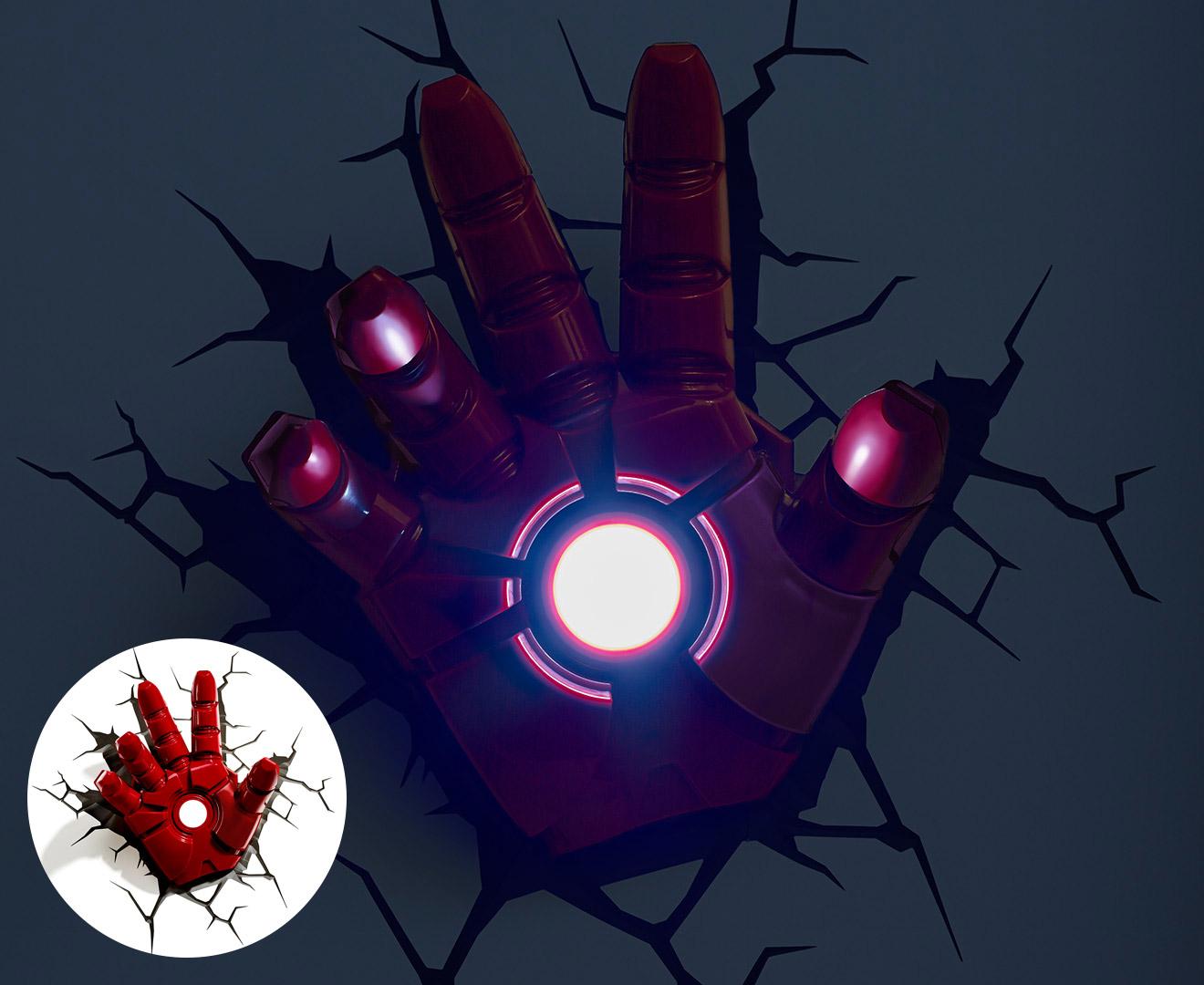 Marvel Wall Lights Maplin : 3D Marvel Iron Man Hand Wall Light - Red eBay