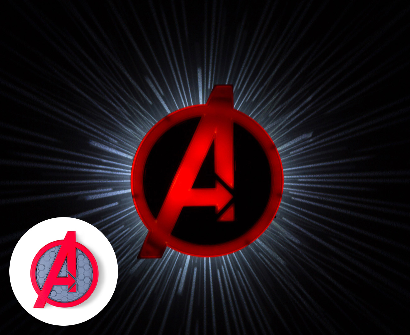 Avengers Wall Lights Very : 3D Marvel Avengers Shield Wall Light - Red eBay