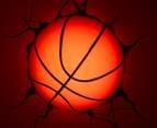 3D Sports Basketball Wall Light - Orange 4