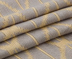 The Peanut Shell Knitted Reversible Bamboo Blanket - Grey/Yellow 4