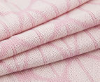 The Peanut Shell Knitted Reversible Bamboo Blanket - Pink 6