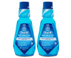 2 x Oral-B Pro-Health Anti-Plaque Mouth Rinse Refreshing Mint 500mL 1