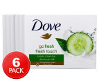 6 x Dove Go Fresh Beauty Cream Soap Bar 100g 1