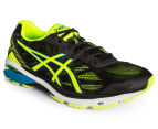 ASICS Men's GT-1000 5 Shoe - Black/Safety Yellow/Blue Jewel 2