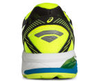 ASICS Men's GT-1000 5 Shoe - Black/Safety Yellow/Blue Jewel 4