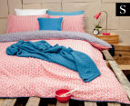 Ardor Peri Reversible Single Bed Quilt Cover Set - Navy 1