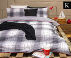 Ardor Wade Reversible King Bed Quilt Cover Set - Grey 1