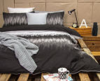 Ardor Arashi Reversible Queen Bed Quilt Cover Set - Charcoal 2