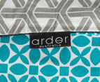 Ardor Peri Reversible Queen Bed Quilt Cover Set - Turquoise 5