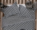 Ardor Arabesque Reversible Single Bed Quilt Cover Set - Charcoal 2