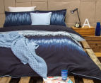 Ardor Arashi Reversible Single Bed Quilt Cover Set - Indigo 2