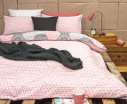 Ardor Madden Reversible Single Bed Quilt Cover Set - Coral 2