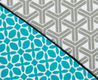 Ardor Peri Reversible Single Bed Quilt Cover Set - Turquoise 3