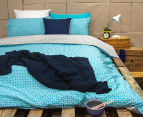 Ardor Peri Reversible King Bed Quilt Cover Set - Turquoise 2