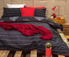 Ardor Paize Reversible King Bed Quilt Cover Set - Ink 2