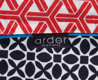 Ardor Peri Reversible Single Bed Quilt Cover Set - Navy 5