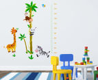 Giraffe, Zebra, Monkey & Panda Height Chart Wall Decal 1