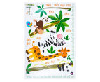 Giraffe, Zebra, Monkey & Panda Height Chart Wall Decal 2
