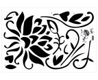 Contemporary Black Flower Wall Decal 2