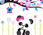 Panda & Tree Branch Wall Decal 3