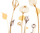Flowers & Dragonflies Wall Decal 3