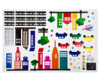 Glow In The Dark Cars & Buildings Wall Decal 3