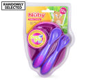 Nuby Sure Grip Bowl w/ Fork & Spoon 12+ Months 1