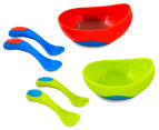 Nuby Sure Grip Bowl w/ Fork & Spoon 12+ Months 5