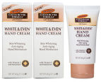 2 x Palmer's Cocoa Butter White & Even Hand Cream 60g 1
