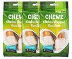3 x VitaPet Chewz Chicken Wrapped Knot Bone 2-Piece 1