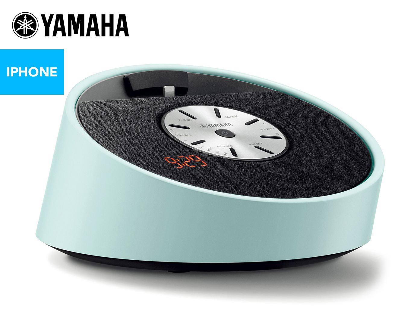 yamaha tsx 14 lightning dock alarm clock blue ebay. Black Bedroom Furniture Sets. Home Design Ideas