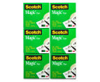 Scotch Magic Cosmo Tape Dispenser + Magic Tape Rolls 6-Pack 5