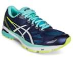 ASICS Women's GT-1000 5 Shoe - Indigo Blue/White/Safety Yellow 2