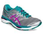 ASICS Women's GEL-Cumulus 18 Shoe - Silver/Pink Glow/Lapis 2