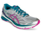 ASICS Women's GT-1000 5 Shoe - Glacier Grey/Pink Glow/Ocean Depth 2