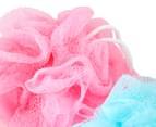 2 x Mesh Bath Sponges 3-Pack 3