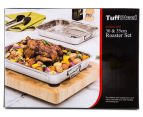 TuffSteel 30cm & 35cm Stainless Steel Roaster Set 6