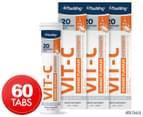 3 x Faulding Vit-C Hi-Strength Effervescent Orange 20 Tabs 1