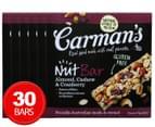 6 x Carman's Almond, Cashew & Cranberry Nut Bars 175g 5pk  1