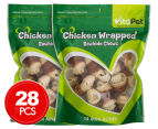 2 x VitaPet Chicken Wrapped Rawhide Chewz 14-Pack 1